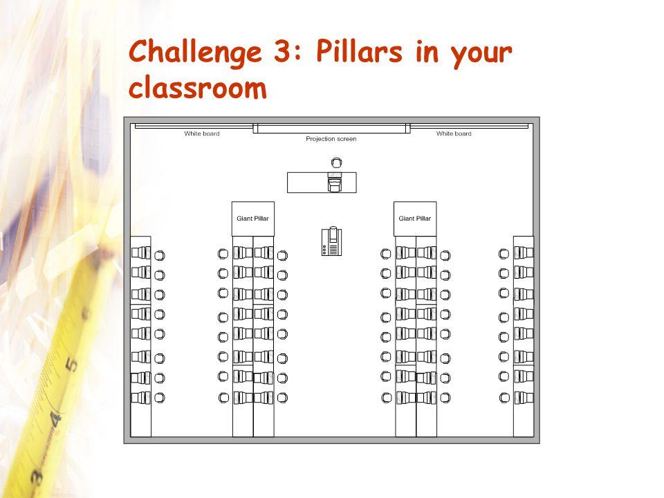 Challenge 3: Pillars in your classroom