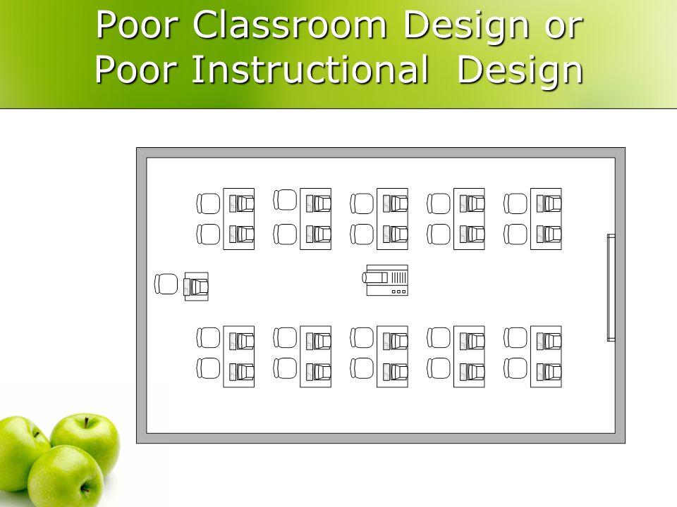 Poor Classroom Design or Poor Instructional Design