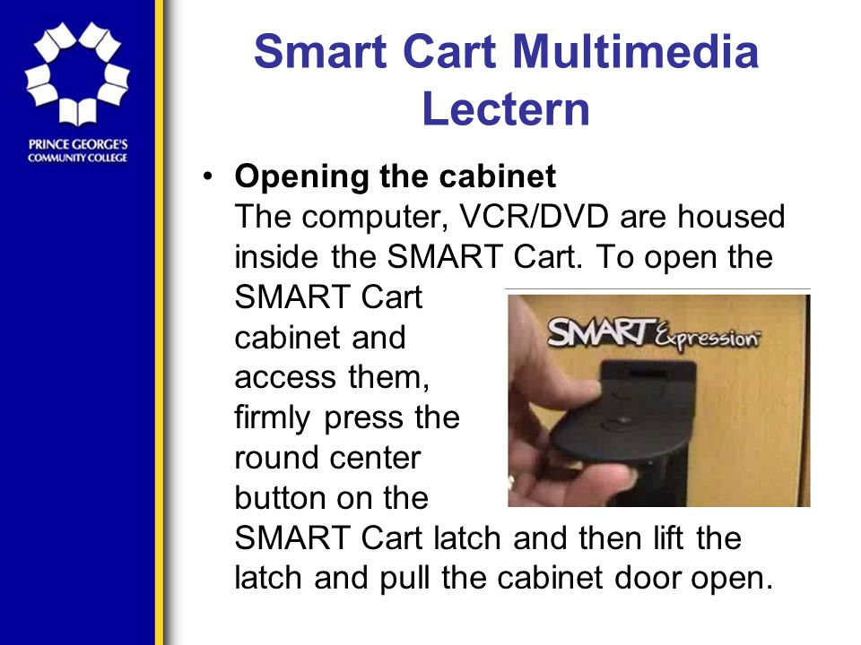 Smart Cart Multimedia Lectern Troubleshooting The control panel dialog box will appear.