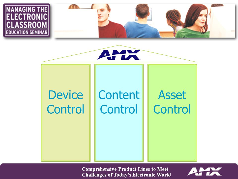 Device Control Content Control Asset Control Comprehensive Product Lines to Meet Challenges of Today's Electronic World