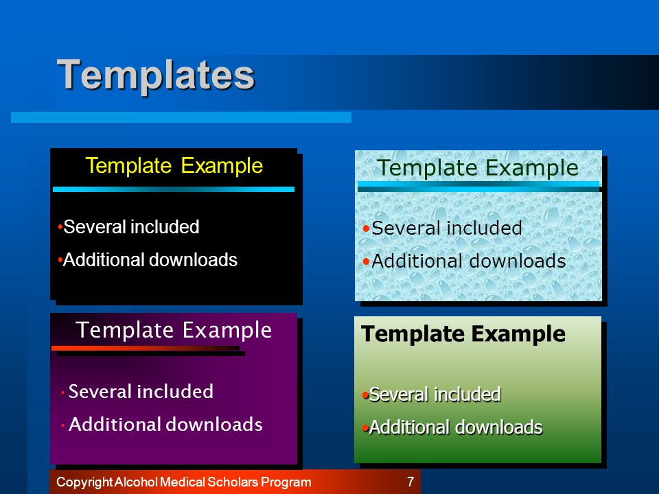 Copyright Alcohol Medical Scholars Program 7 Templates Template Example Several included Additional downloads Template Example Several included Additional downloads Template Example Several included Additional downloads Template Example Several included Additional downloads Template Example Several includedSeveral included Additional downloadsAdditional downloads Template Example Several includedSeveral included Additional downloadsAdditional downloads Template Example Several included Additional downloads Template Example Several included Additional downloads