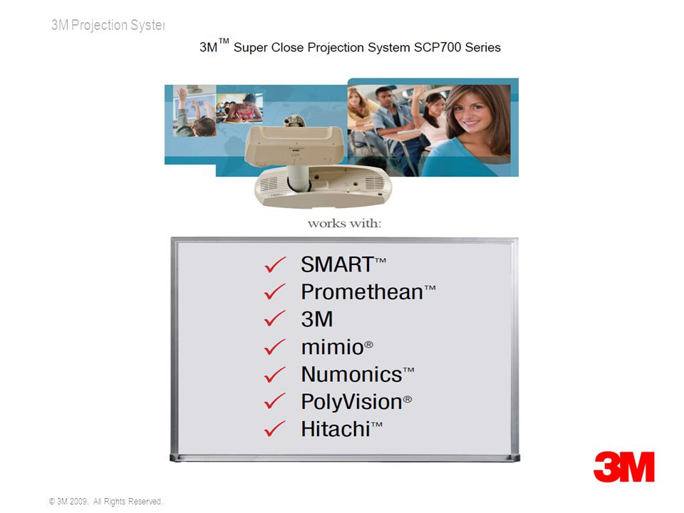 3M Projection Systems © 3M 2009. All Rights Reserved.