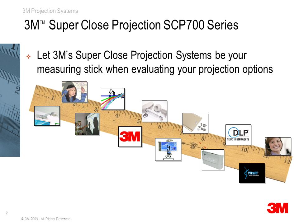 2 3M Projection Systems © 3M 2009. All Rights Reserved.