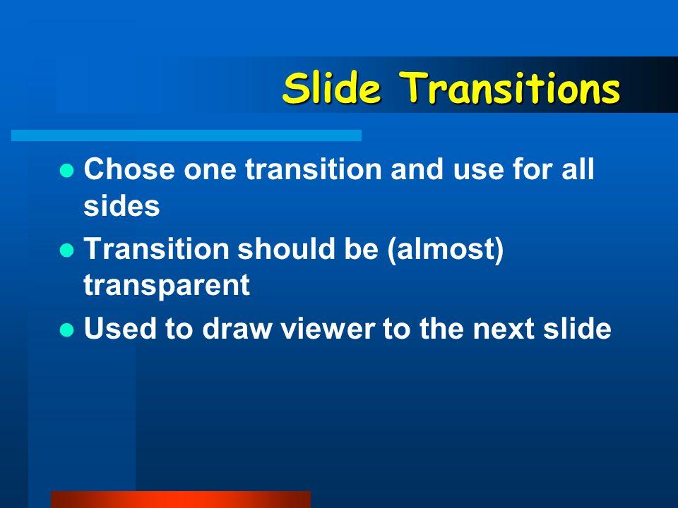 Color Use a consistent color scheme for continuity.