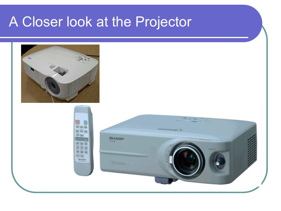 A Closer look at the Projector