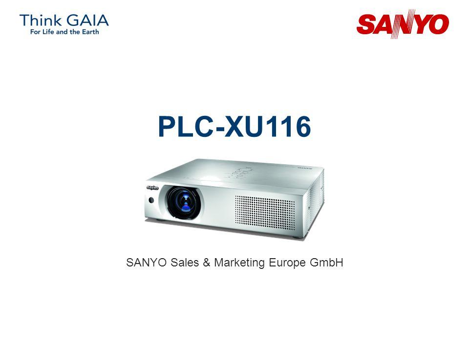 PLC-XU116 SANYO Sales & Marketing Europe GmbH