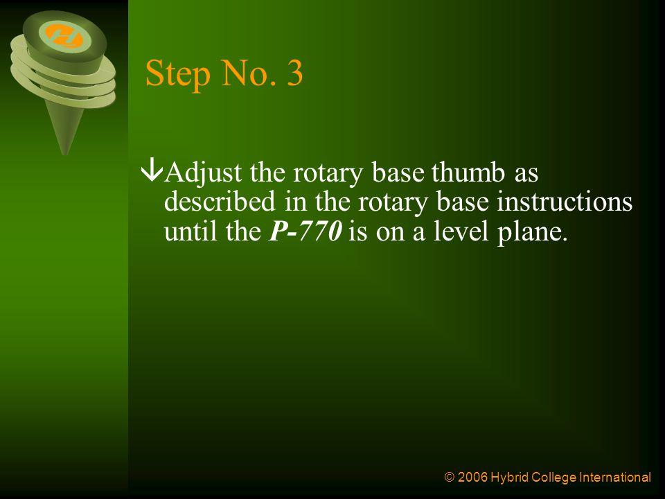 © 2006 Hybrid College International Step No.