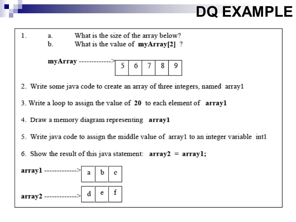 DQ EXAMPLE