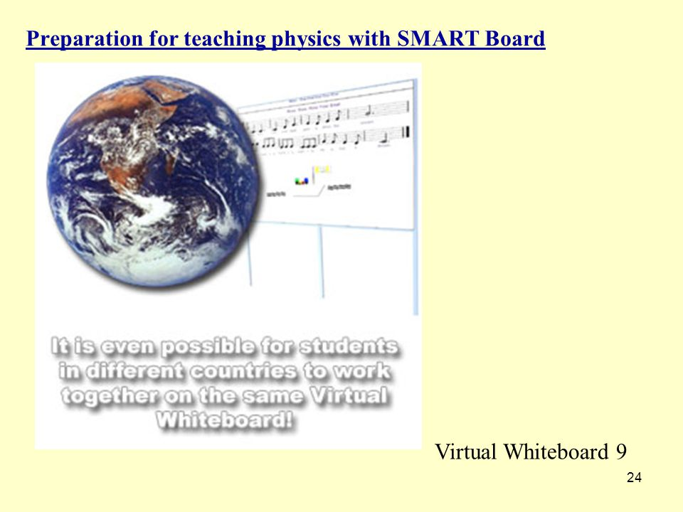 24 Preparation for teaching physics with SMART Board Virtual Whiteboard 9