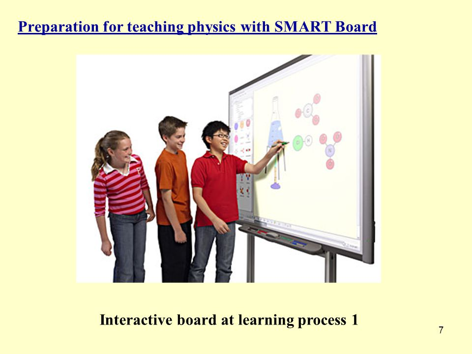 7 Preparation for teaching physics with SMART Board Interactive board at learning process 1
