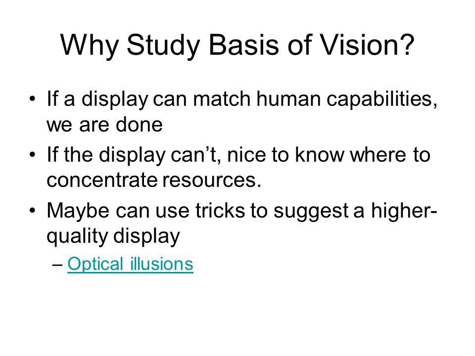 Why Study Basis of Vision.