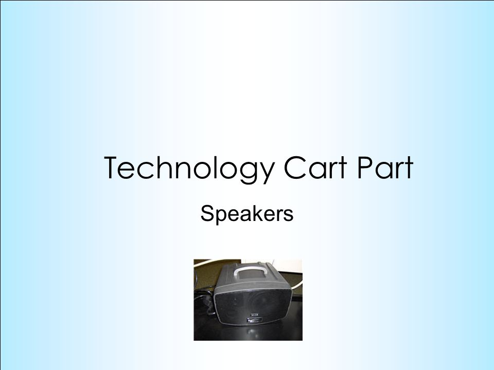 Speakers Technology Cart Part