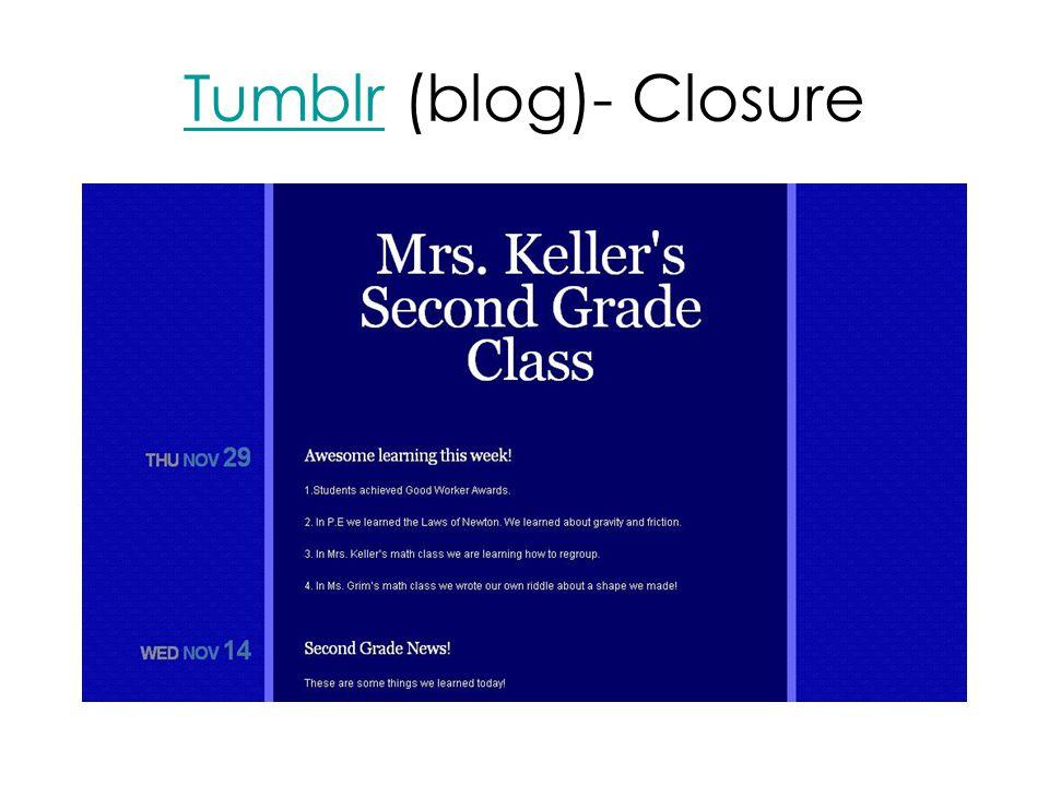 TumblrTumblr (blog)- Closure
