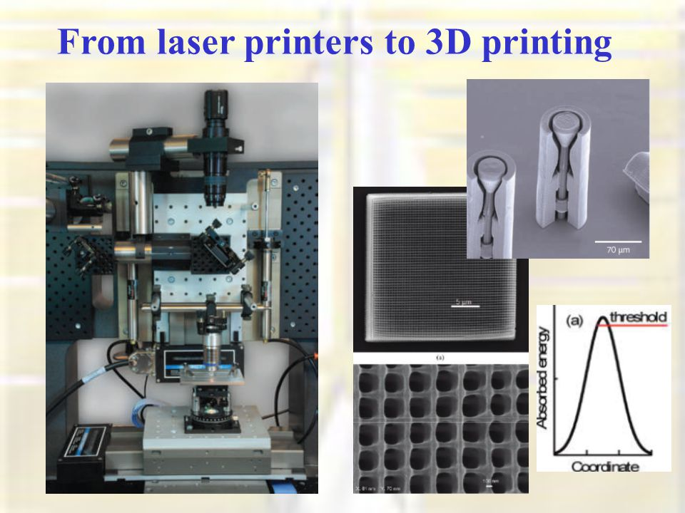 From laser printers to 3D printing
