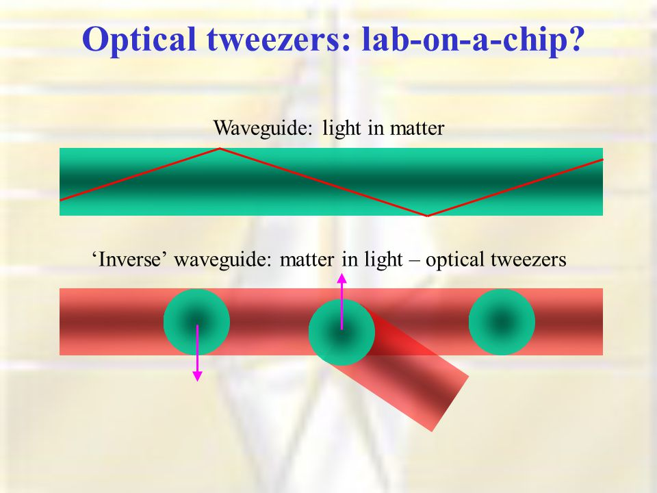 Optical tweezers: lab-on-a-chip.