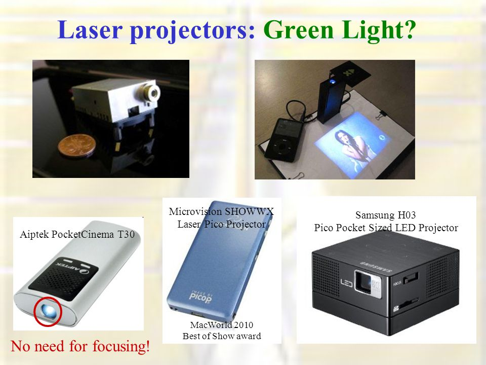 Laser projectors: Green Light.