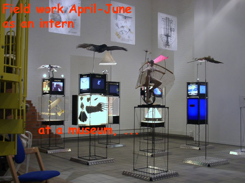 Field work April-June as an intern at a museum,...
