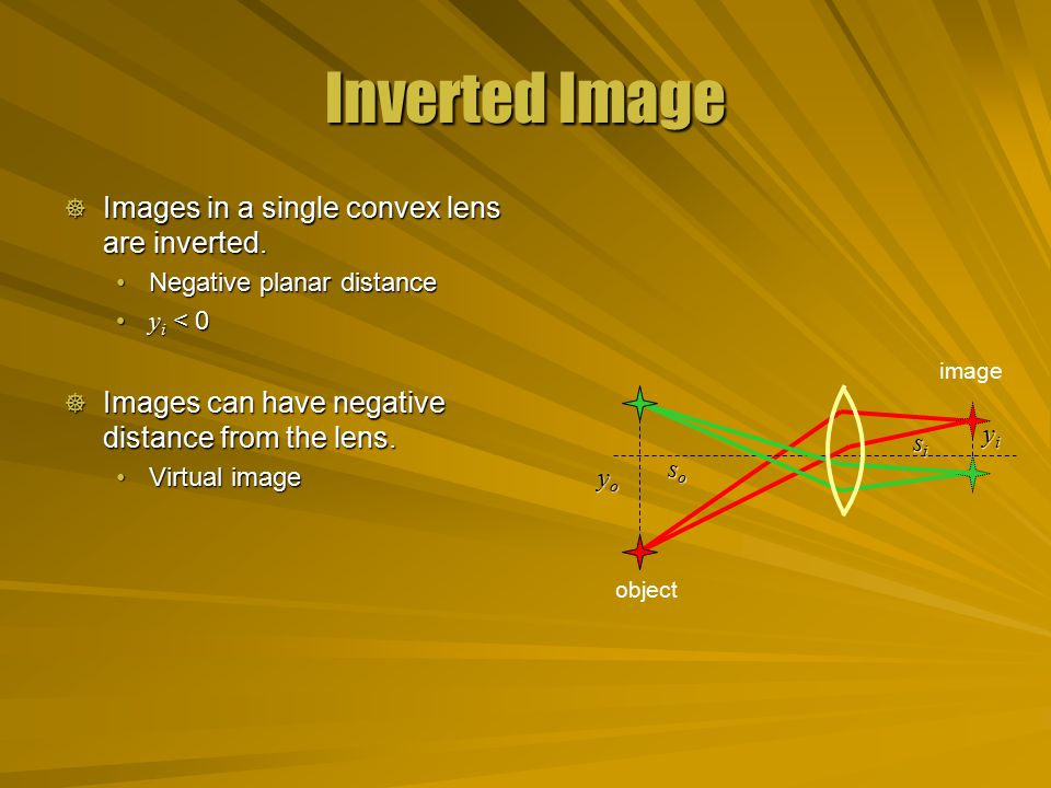 Magnification Ratio  The ratio of the image size to the object size is the magnification M.