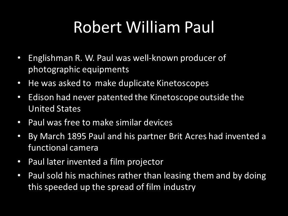 Robert William Paul Englishman R. W.