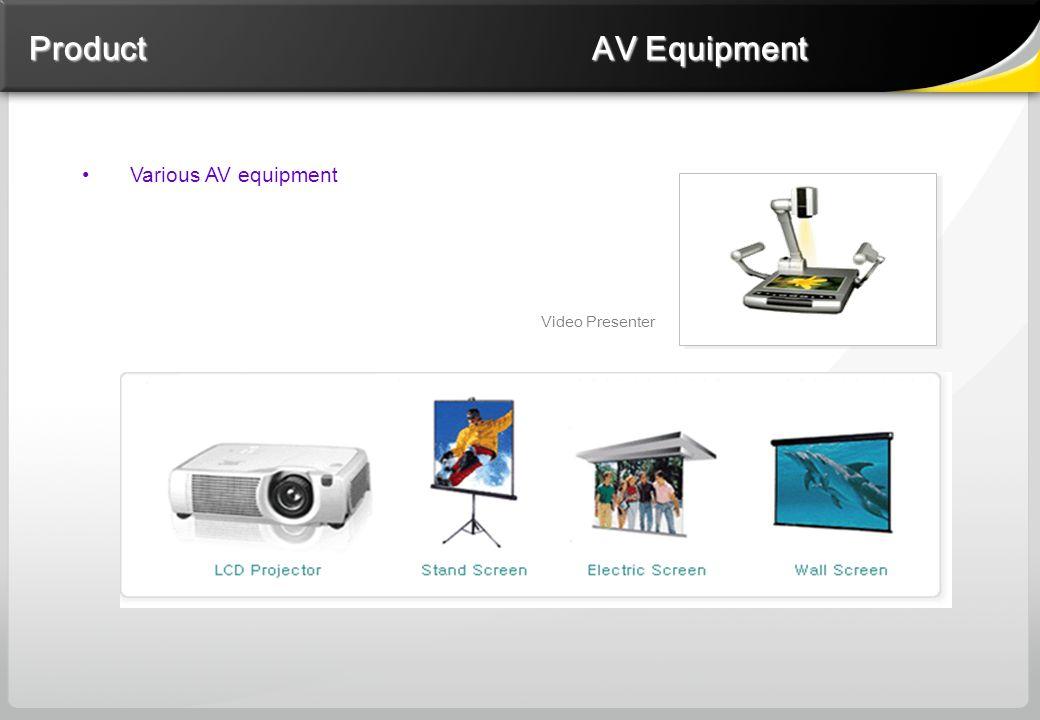 Various AV equipment Video Presenter Product AV Equipment Product AV Equipment