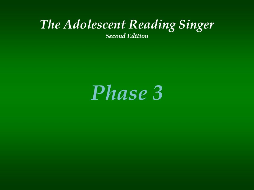 The Adolescent Reading Singer Second Edition Phase 3