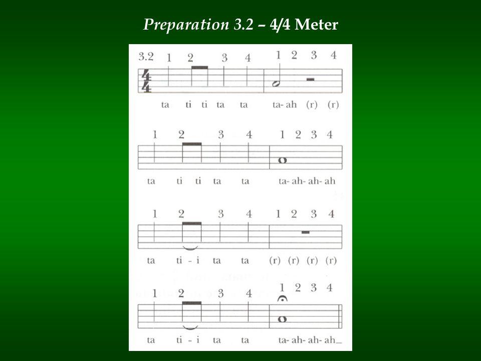 Preparation 3.2 – 4/4 Meter