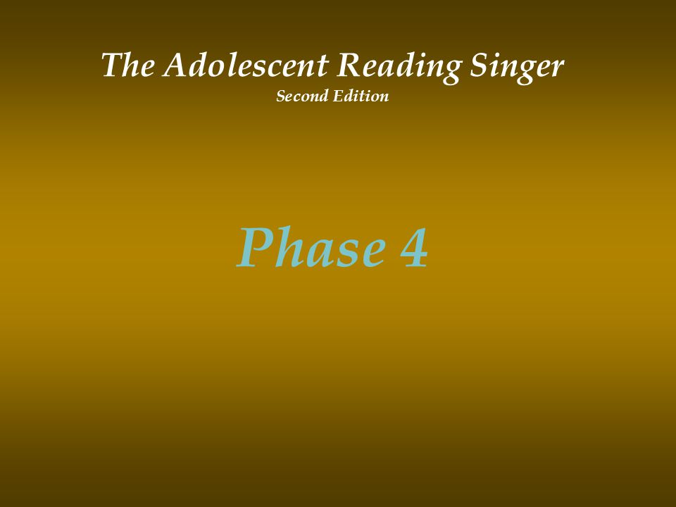 The Adolescent Reading Singer Second Edition Phase 4