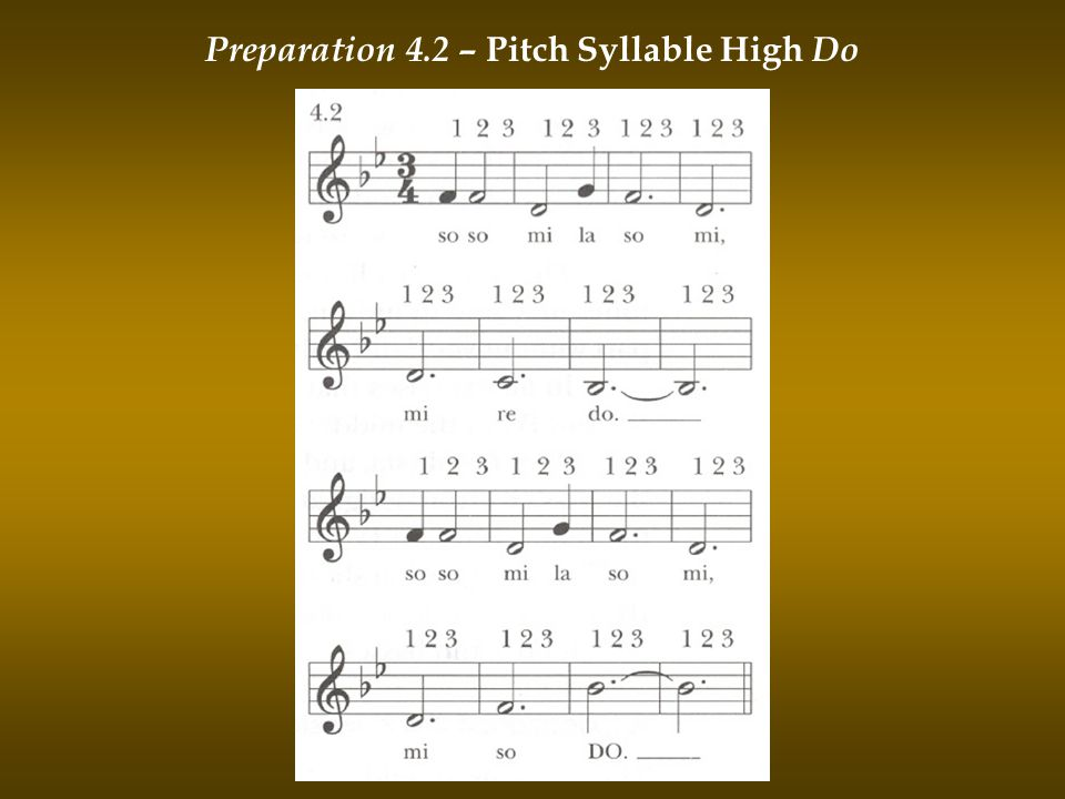 Preparation 4.2 – Pitch Syllable High Do
