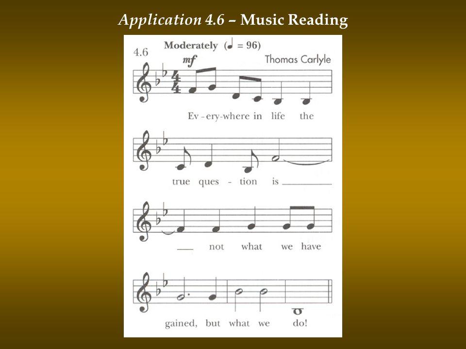 Application 4.6 – Music Reading