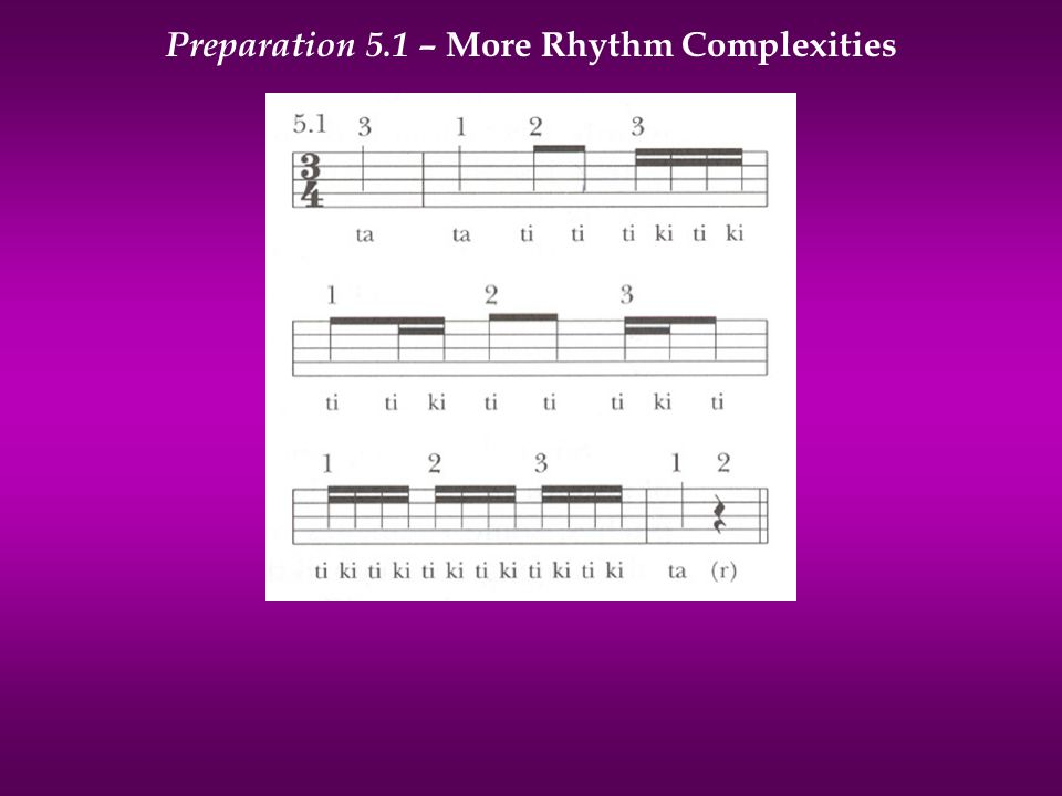 Preparation 5.1 – More Rhythm Complexities