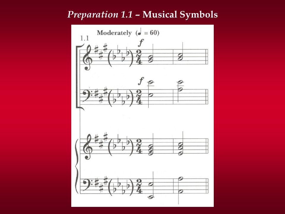Preparation 1.1 – Musical Symbols