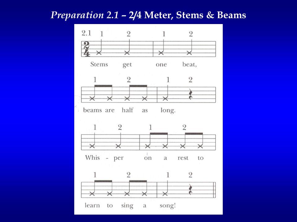 Preparation 2.1 – 2/4 Meter, Stems & Beams