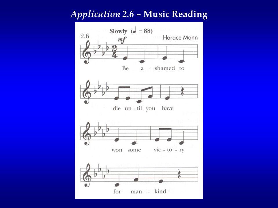 Application 2.6 – Music Reading