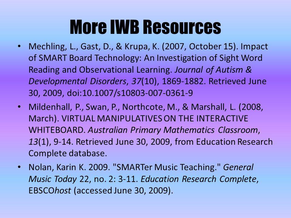 Mechling, L., Gast, D., & Krupa, K. (2007, October 15).