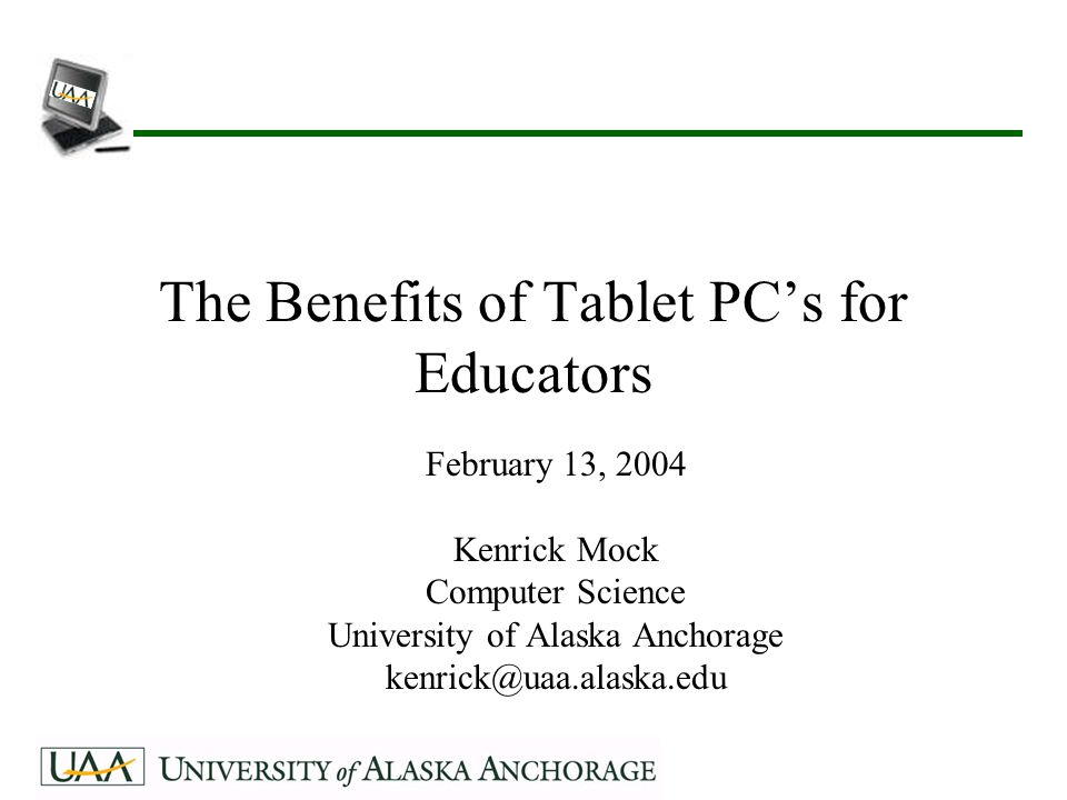 12 Classroom Presenter System developed at the University of Washington Components –Instructor uses Tablet PC wirelessly to communicate with server –Server hooked up to projector –Students also have Tablet PC's to view and annotate instructor's slide