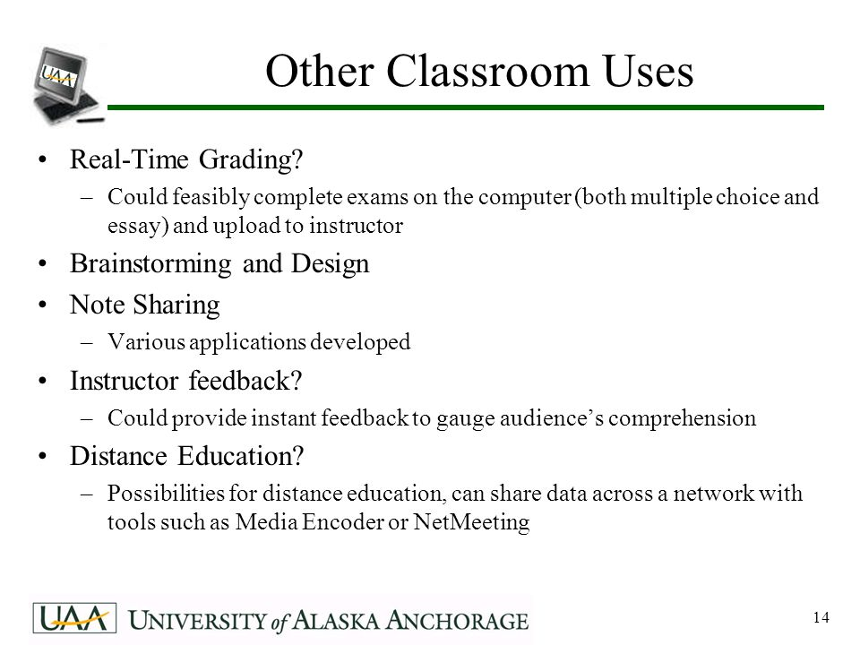 14 Other Classroom Uses Real-Time Grading.
