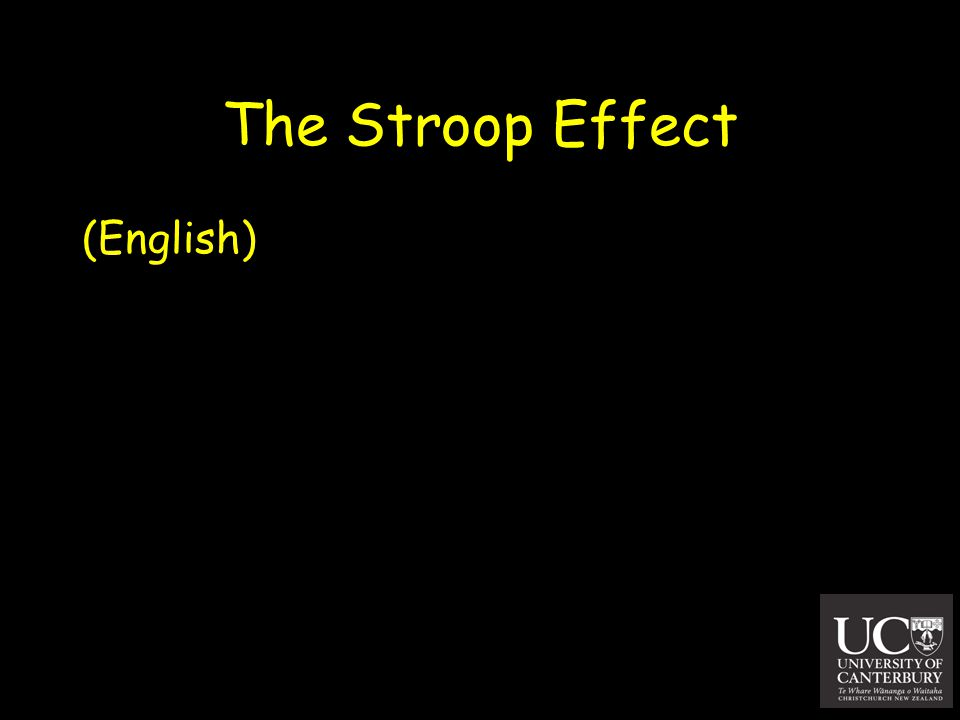 The Stroop Effect (English)