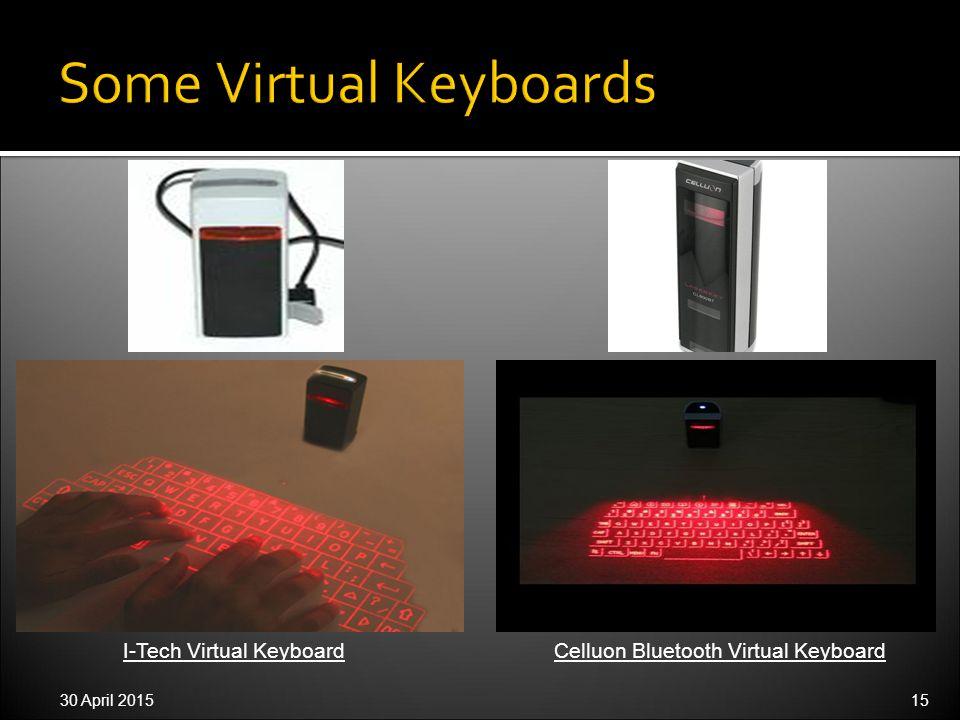 30 April 201515 I-Tech Virtual KeyboardCelluon Bluetooth Virtual Keyboard