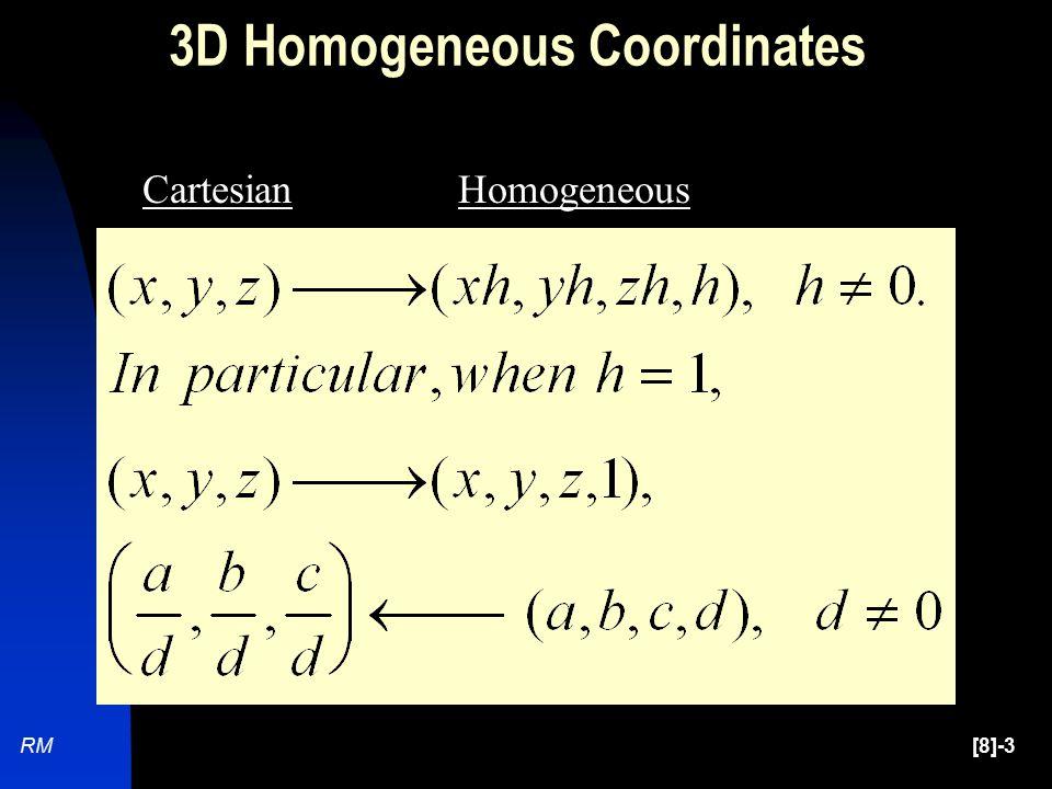 [8]-3RM CartesianHomogeneous 3D Homogeneous Coordinates