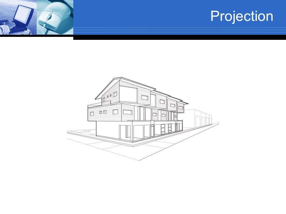 Oblique parallel projection =1  = 45 Cavalier projection  = 0 - 360 =0.5  = 63.4 Cabinet projection  = 0 – 360 =0  = 90 Orthogonal projection  = 0 – 360