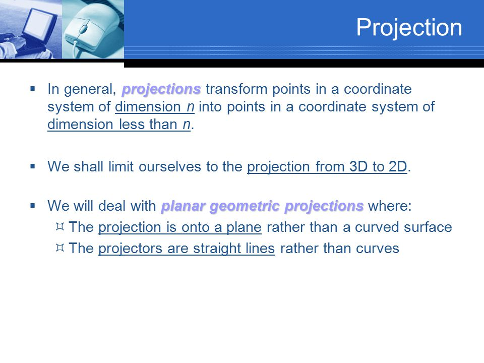 Orthogonal Projection Matrix
