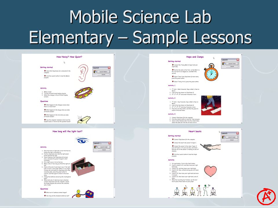Mobile Science Lab Elementary – Sample Lessons