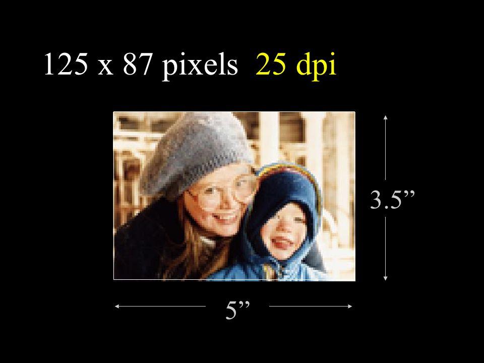 """125 x 87 pixels 25 dpi 3.5"""" 5"""""""