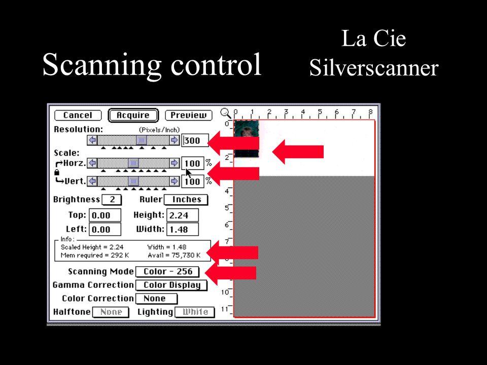 Scanning control La Cie Silverscanner