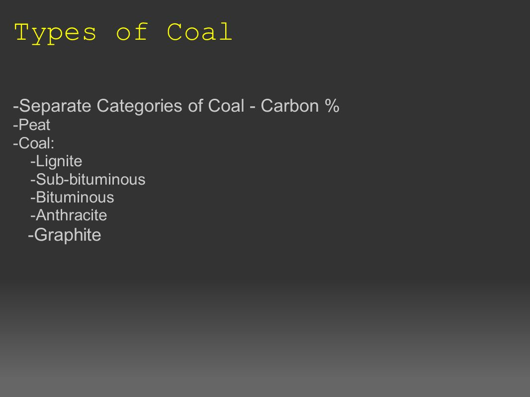 Mining for Coal -Mines found on every continent -Typical mining styles -Surface mining -Underground mining -Long-wall mining -Conventional mining -Fun Facts: -Recorded world consumption -Estimated amount -Greatest supplier -Transported to power plants