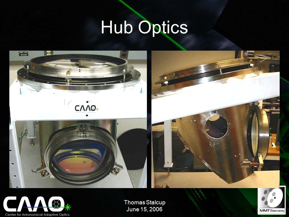 Thomas Stalcup June 15, 2006 Hub Optics