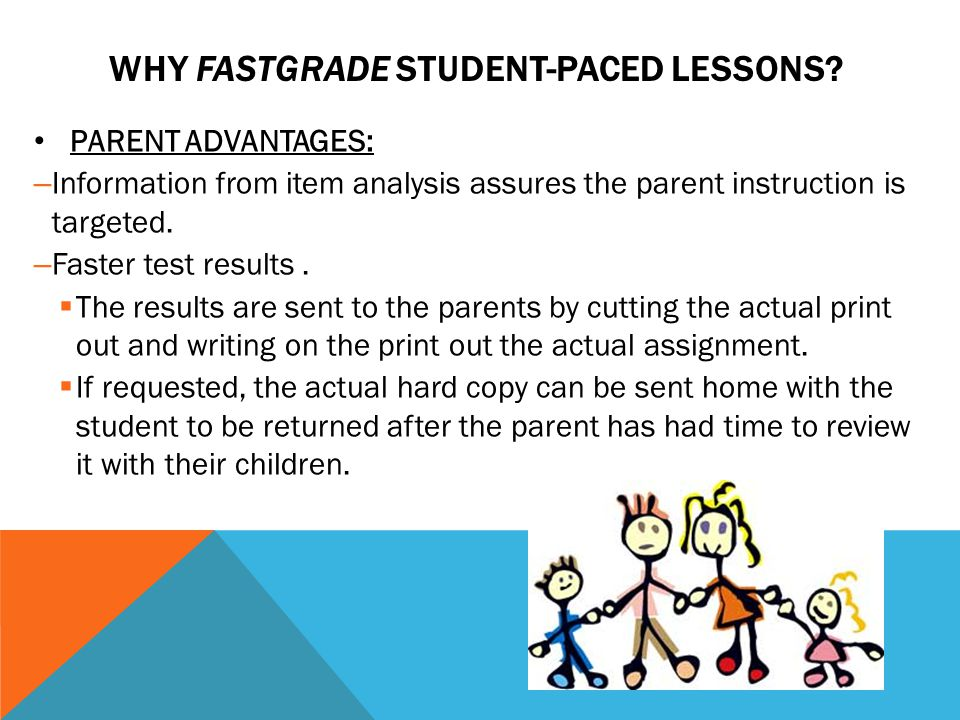 WHY FASTGRADE STUDENT-PACED LESSONS.