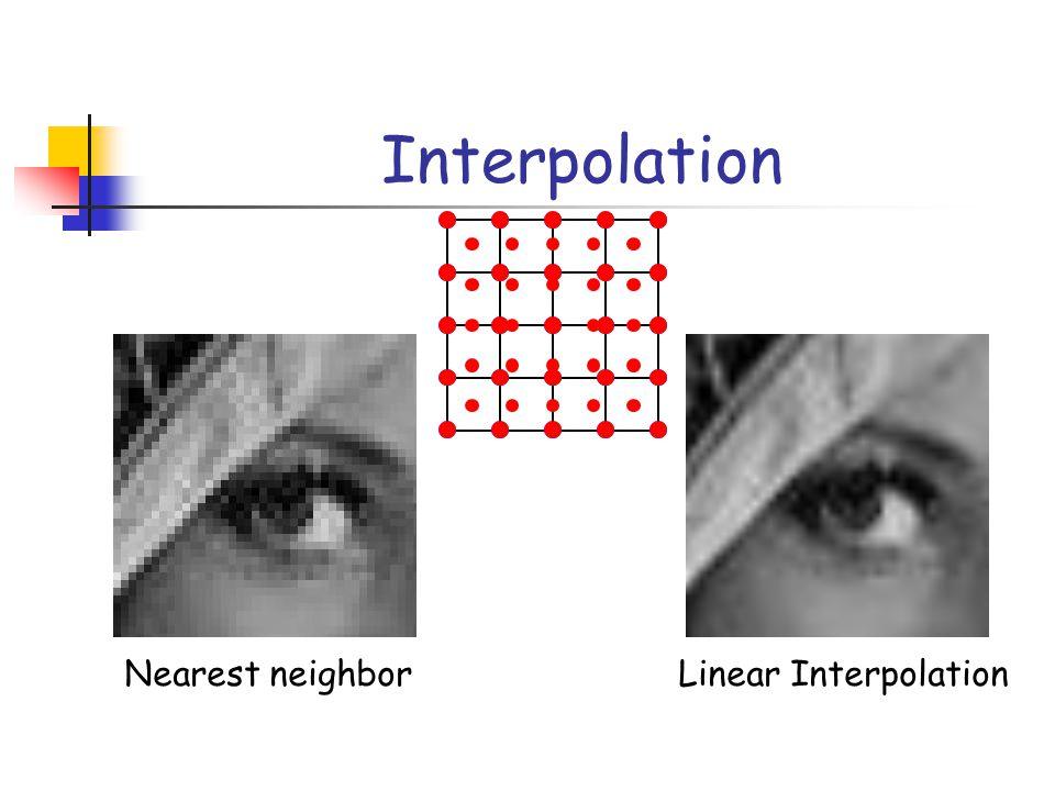 Interpolation Nearest neighborLinear Interpolation