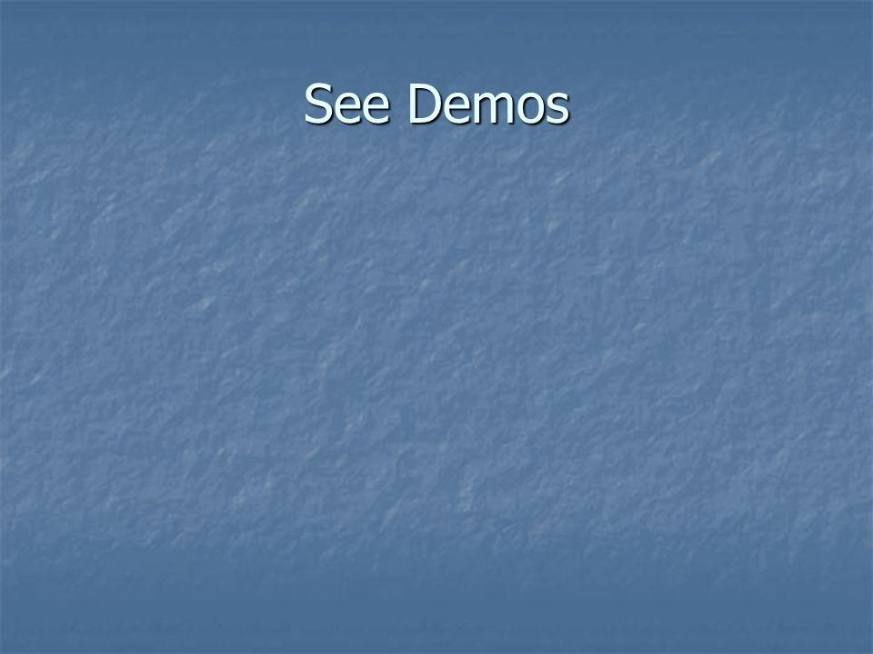 See Demos