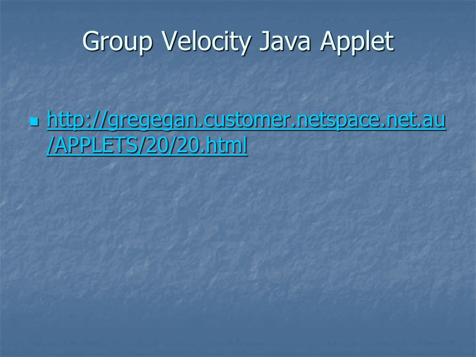 Group velocity in terms of k to the left and in terms of ω below